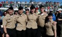 Five people in uniforms