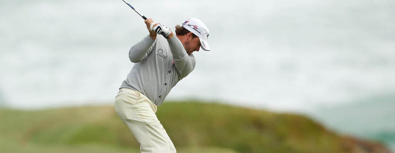Graeme McDowell taking a swing