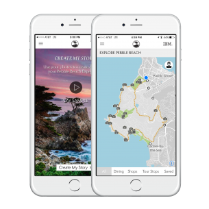 the pebble beach app on iphones