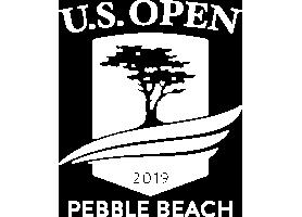 U.S. Open 2019 Pebble Beach white logo.