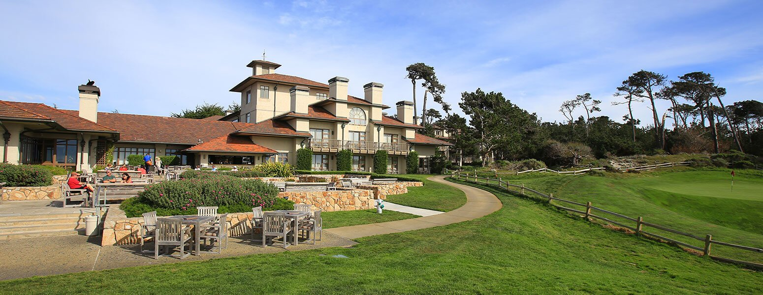 Patio and lodge at Pebble Beach Resort