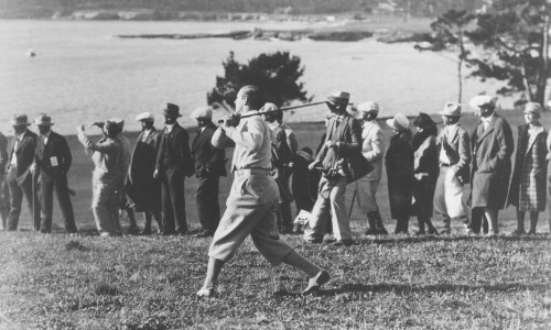 "Harry ""Light Horse"" Cooper at Pebble Beach Golf Links"