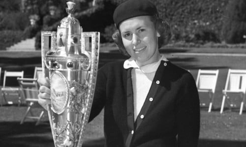 Betty Jameson and trophy