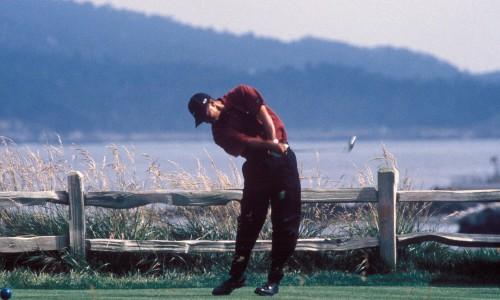 Tiger Woods golfing