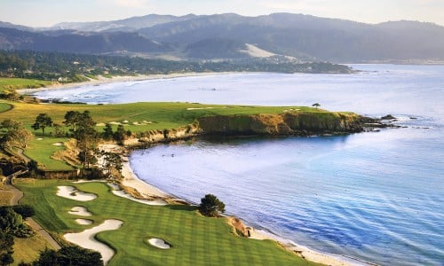 aerial view of Pebble Beach Golf Links named the No. 1 Golf Course in America