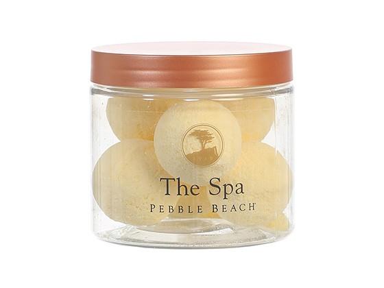 The Spa at Pebble Beach All-Natural Bath Bombs in Lemon Vanilla Scent