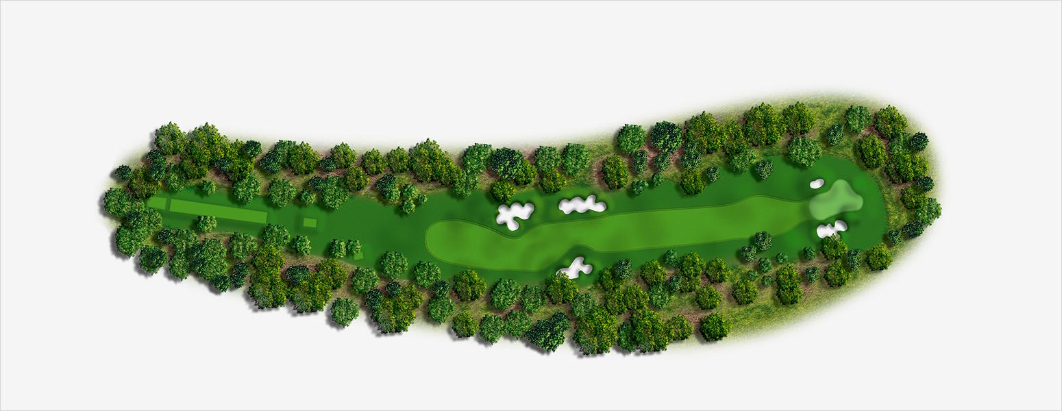 hole 13 Spyglass Hill map
