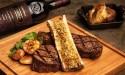 Grilled steak on a cutting board
