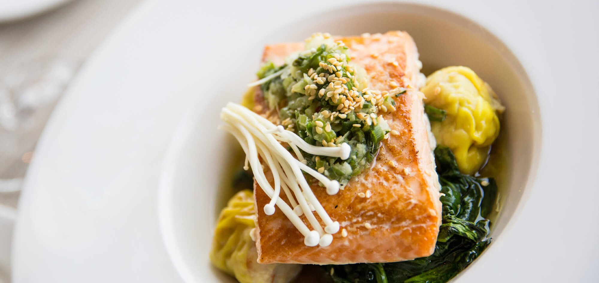 Hibachi Salmon with Teriyaki Glaze.