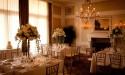 Wedding table setting reception area